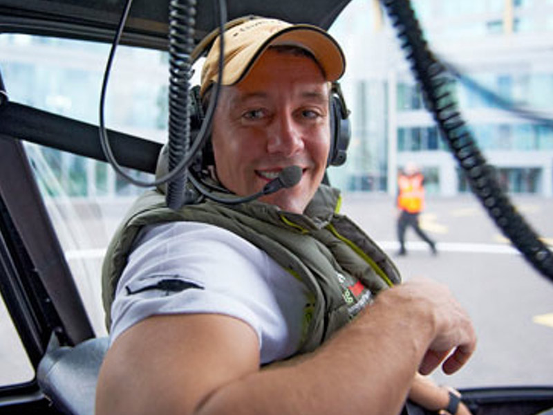 greg secker in helicopter