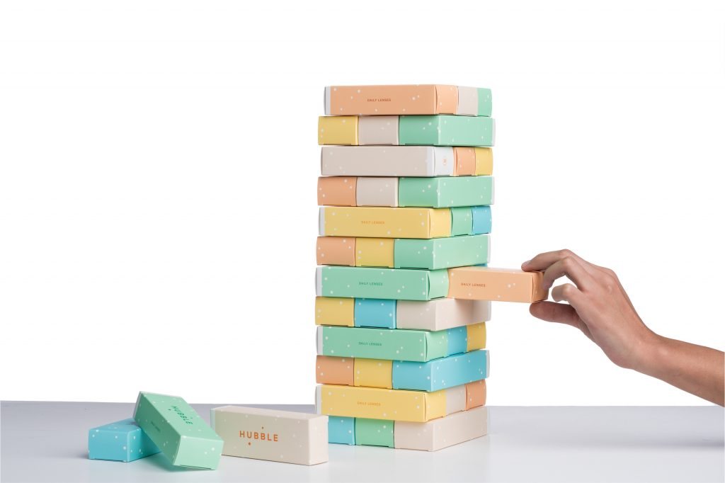 colourful jenga blocks
